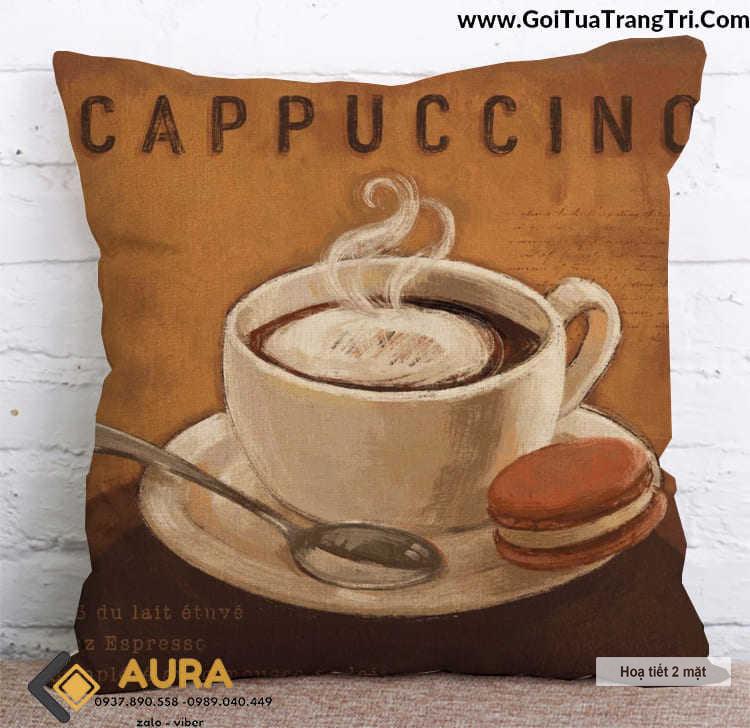 Gối Tựa Lưng Vintage Cổ Điển - Cappuccino (Vỏ gối 2 mặt)