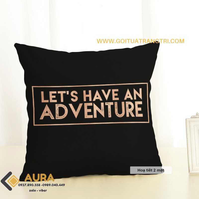 Gối Tựa Sofa Adventure ( Vỏ Gối 2 mặt)