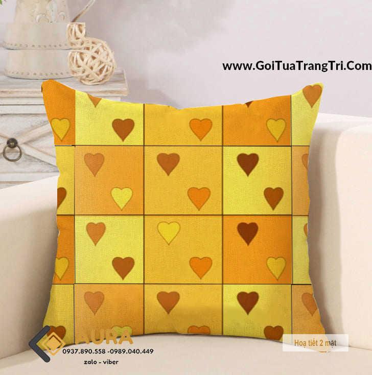 Vỏ Gối Tựa Sofa Hello Honey Mẫu 3 ( Vỏ Gối 2 mặt)