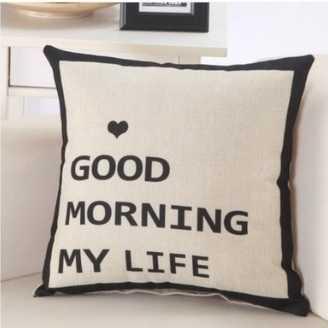 Gối Tựa Sofa Good Morning (Vỏ Gối 2 mặt)