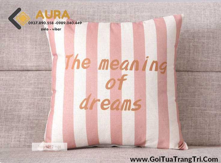 Gối Tựa Sofa Dreams (Vỏ Gối 2 mặt)