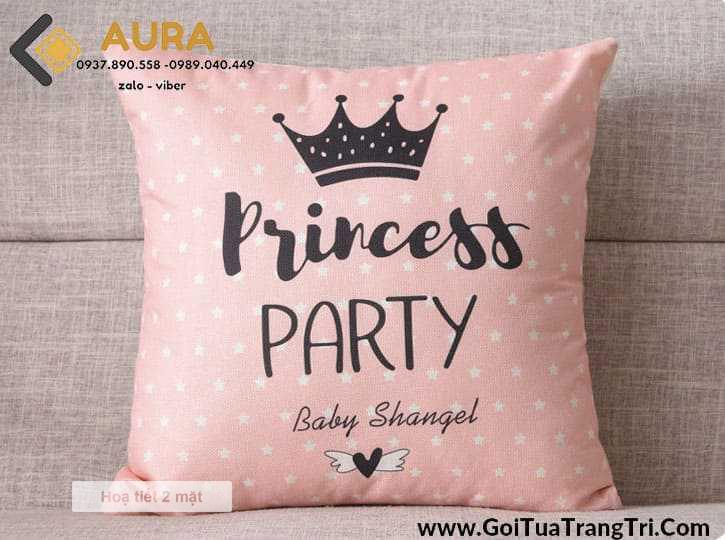 Gối Tựa Sofa Princess (Vỏ Gối 2 mặt)