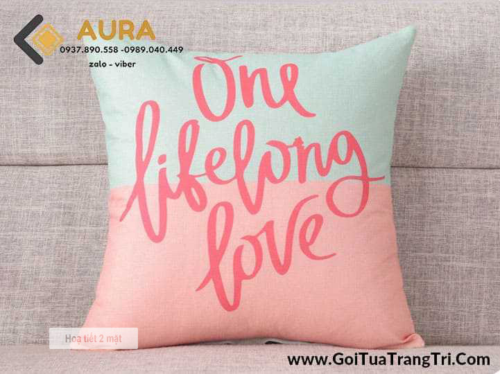 Gối Tựa Sofa One Life (Vỏ Gối 2 mặt)