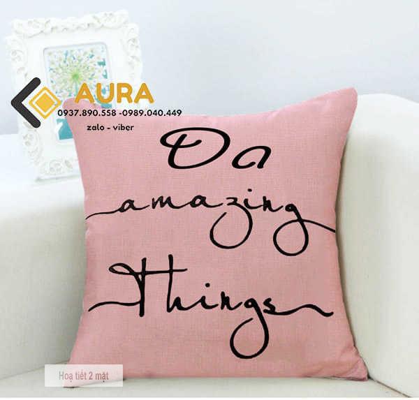 Gối Tựa Sofa Do Amazing Things (Vỏ Gối 2 mặt)