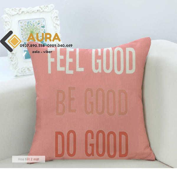 Gối Tựa Sofa Feel Good (Vỏ Gối 2 mặt)